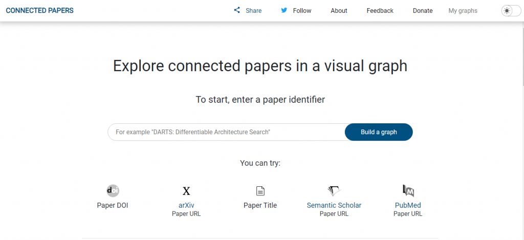 Explore Connected Papers in a Visual Graph