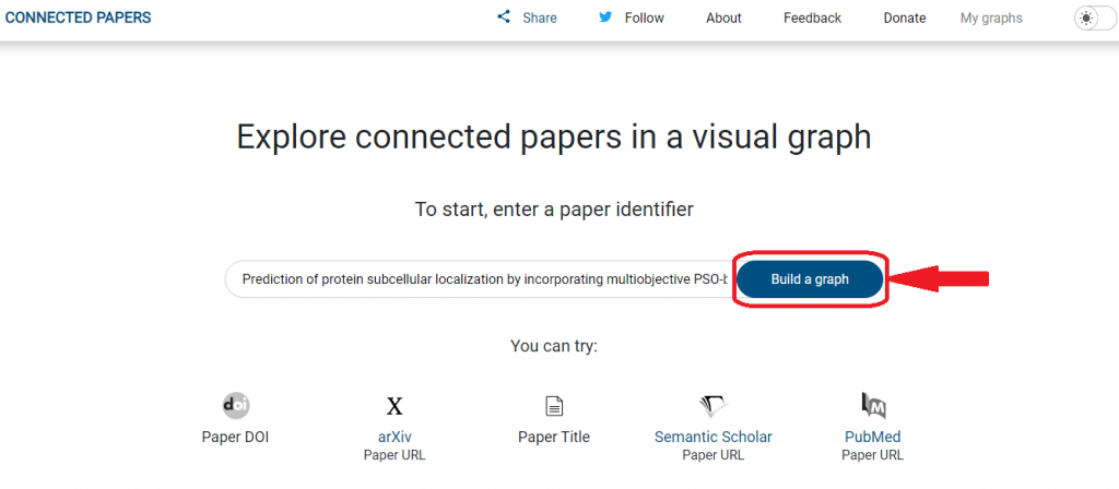 Find and explore academic papers entering a paper