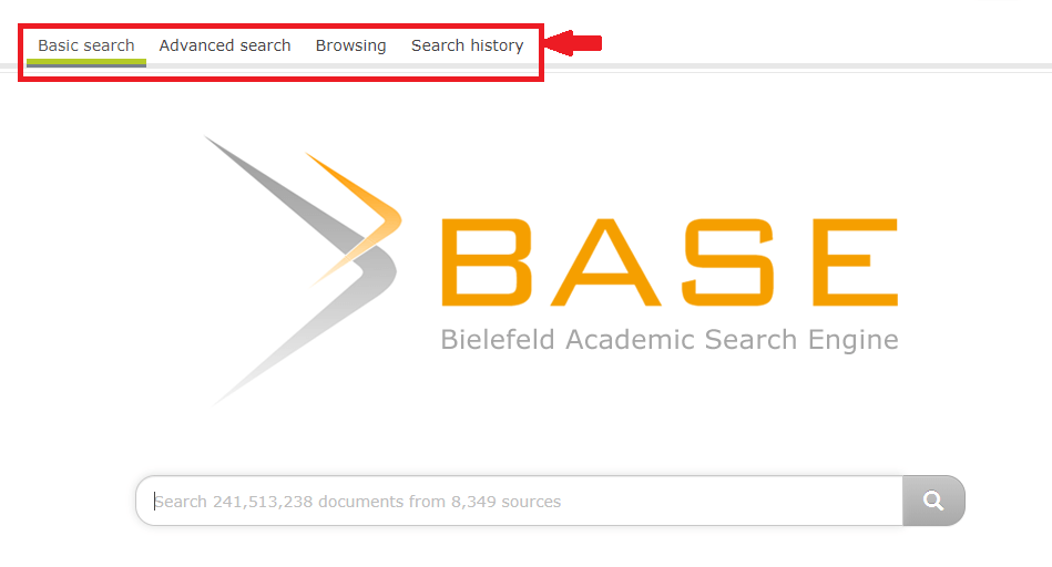 BASE web search interface a academic search engine for researchers