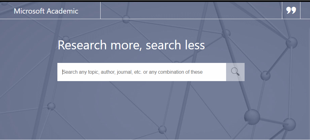 Web Search Interface of Microsoft Academic Search Engine