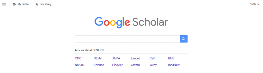 Google Scholar Interface to set Up Search Alert