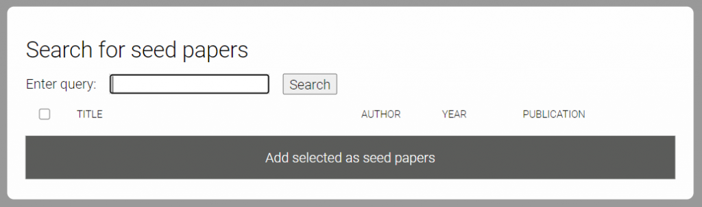 Searching seed papers to identify academic papers using literature discovery tool