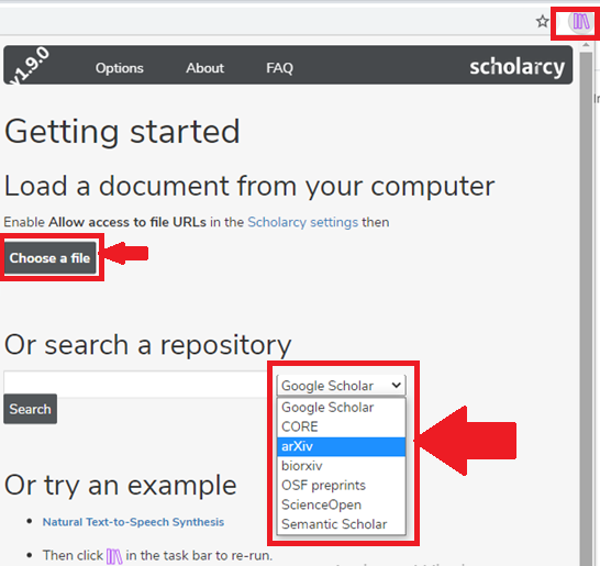put keyword in scholarcy search window to summarize