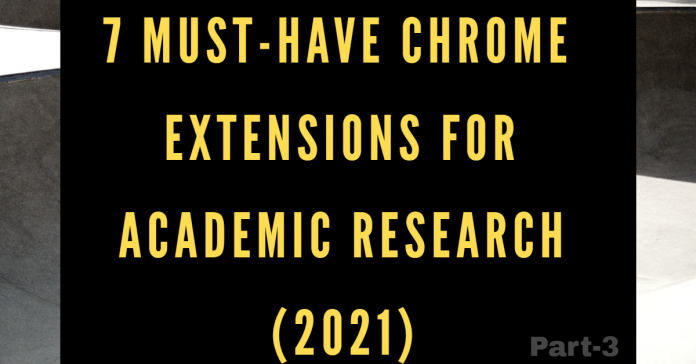 chrome extensions for academic research