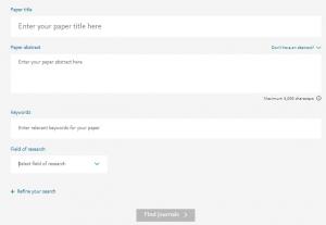 Elsevier Journal Finder