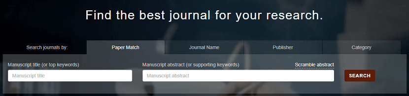 Find the best journal for your research using Journal Guide