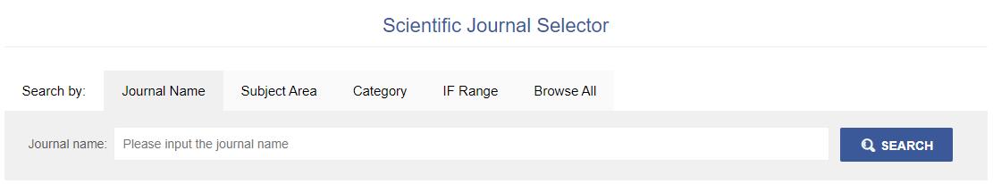 Letpub's Journal Selector Tool for choosing best journal