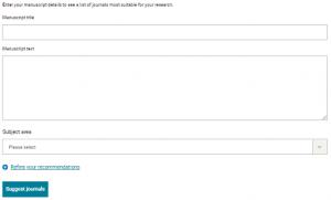 Springer Nature Journal Suggester Tool for finding best journal