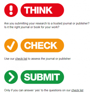 Think Check Submit lets you select right journal