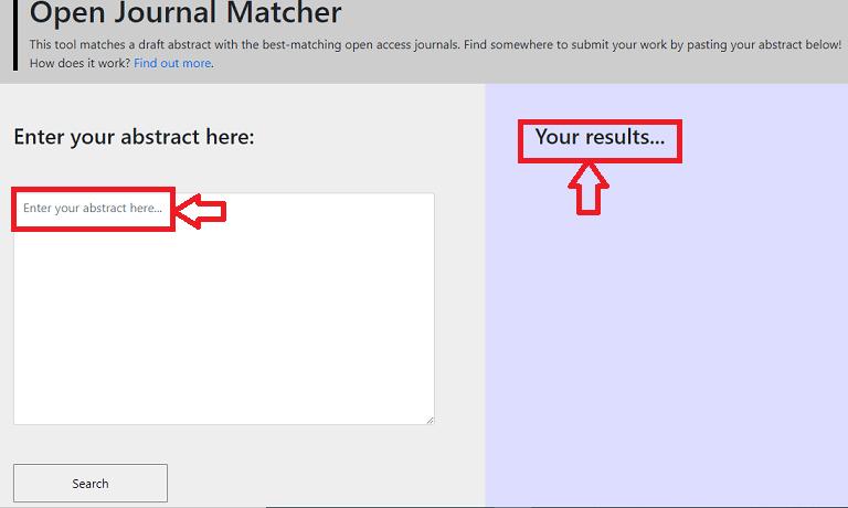 Open Journal Matcher  a Journal Finder Tool